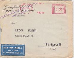 ITALY 1941 (25.1.) COMMERC.AIRMAIL COVER OLGIATE OLONA (Varese) TO TRIPOLI (Ital.Libya) CENSORED - Italie