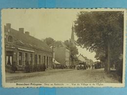 Brasschaat Polygone Dorpe En Kerkzicht (stoomtram) Vue Du Village Et De L'Eglise (tram à Vapeur) - Brasschaat