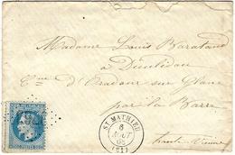1868- Enveloppe De ST MATHIEU ( Hte Vienne) Cad T15 Affr. N°29 Oblit. G C 3763 - 1849-1876: Période Classique