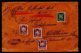 A5211) DR Wertbrief Würzburg 07.1924 N. Mühlhausen - Deutschland