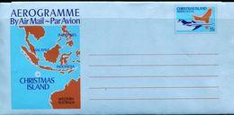 PA2084 Christmas Island 1980 Aircraft And Map Postage MNH - Europe (Other)