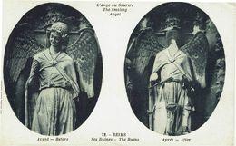 CPA - Carte Postale -- FRANCE -  REIMS - L'Ange Sourire -Avant Et Après Le Bombardement(iv 677) - Reims