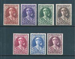 Belgique  Série De 1931 N°326 A 332 Neufs * ( Cote 85€ ) - Belgien