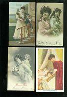 Beau Lot De 60 Cartes Postales De Fantaisie Enfant  Fillette  Femme   Mooi Lot Van 60 Postkaarten Fantasie - 60 Scans - 5 - 99 Postkaarten