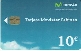España 10€ Tarjeta Movistar Cabinas 10/14....Spain Phonecard, Telecarte Espagne - Emissions Basiques