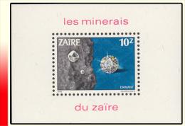Zaire BL 054** Les Minerais   MNH - Zaïre