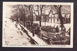 CPA 30 - L'ESPEROU - Stationnement Des Autos Des Skieurs Au Quartier Du Fouzal - SUPERBE PLAN AUTOMOBILES Dont CITROEN - Otros Municipios