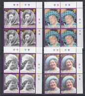 Falkland Islands 2002 Queen Mother 4v Bl Of 4 (corners)   ** Mnh (37812) - Falklandeilanden
