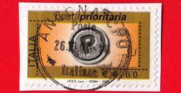 ITALIA - Usato - 2006 -  Posta Prioritaria, Numerale  - Gennaio 2006 - Impronta Della Lettera P - 0.60 - 6. 1946-.. Repubblica