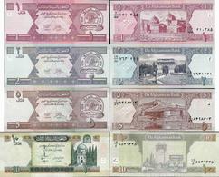 Afghanistan - Set 1+2+5+10 Afghani - Pick 64-67 UNC Random Years - Afghanistan