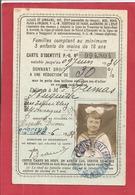 CARTE D'IDENTITE POUR REDUCTION 1932 - Cartes