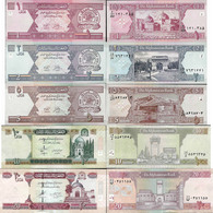Afghanistan - Set 1+2+5+10+20 Afghani - Pick 64-68 UNC Random Years - Afghanistan