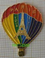 MONTGOLFIERE PARIS TOUR EIFFEL Arc En Ciel  En Version EàF - Airships