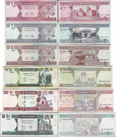 Afghanistan - Set 1+2+5+10+20+50 Afghani - Pick 64-69 UNC Random Years - Afghanistan