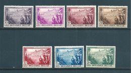 Belgique Série De 1932 N°356 A 362  Neufs  Légère Charnière (cote 130€) - Belgien