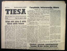 1944.09.30 Lithuania WW II Newspaper/ Tiesa No. 72 - Other