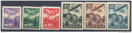 1940 SLOVAQUIE PA 1-6** Lac, Montagne, Avion - Ongebruikt