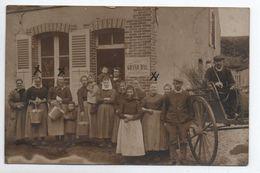"""RARE CARTE PHOTO écrite à BEAUDEMONT / Affiche -> """"GRAND BAL / VILLE De VILLENEUVE SUR YONNE"""" (89) - Other Municipalities"""