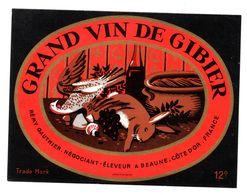 Etiquette Grand Bourgogne Vin De Gibier Gauthier - Bourgogne