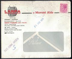 TY10  ITALIA 1974 - SIRACUSANA LIRE 40 ISOLATA IN TARIFFA FATTURA COMMERCIALE APERTA - 1971-80: Poststempel