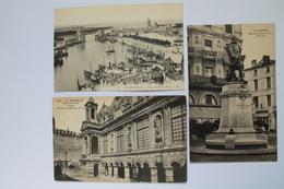 3  CARTES POSTALES ANCIENNES - La Rochelle