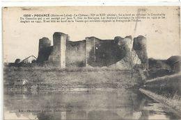 1856. POUANCE . LE CHATEAU + LONG HIST . 2 TRACES DE PLI VISIBLES SEULt  AU VERSO . NON ECRITE - France