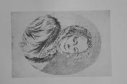 GRAVURE 705 / PORTRAIT DE Mme DE NETTINE Par ANGE LAURENT DE LA LIVE DE JULLY - Stiche & Gravuren