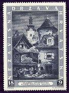 CROATIA 1943 Zagreb Philatelic Exhibition   MNH / **.  Michel 115 - Croatia