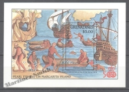 Grenada Grenadines 1987 Yvert BF 129, 500th Anniv. America Discovery By Christopher Columbus - Miniature Sheet - MNH - Grenada (1974-...)