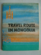 TRAVEL ROUTE IN MONGOLIA - ULAN BATOR, 1978. TSEND-OCHIR. - Tourism Brochures