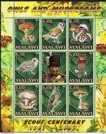 MALAWI -Champignons &Rapaces Nocturnes - Amanita Caesarea - Agrocybe Aegerita - Pleurotus Ostreatus - Amanita Phalloides - Malawi (1964-...)