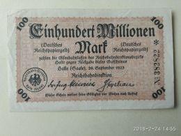 Halle 100 Milioni Mark 1923 - [11] Emissioni Locali