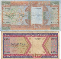 2 Billets Mauritanie 1985 100 Et 200 Ouguiya - Mauritanie
