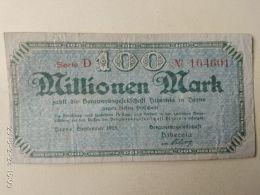 Herne 100 Milioni Mark 1923 - [11] Emissioni Locali