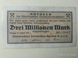 Leipzig  3 Milioni Mark 1923 - [11] Emissioni Locali