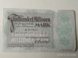 Ludwigshafen 500 Milioni Mark 1923 - [11] Emisiones Locales