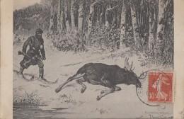 Chasse - Grand Nord - Orignal - Ski De Fond - Illustration - 1907 - Chasse