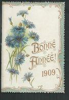Livret Calendrier 1909 De 16 Pages Avec Poëmes De Lamartine,Hugo,Corneille,Bussy,Siefert,Amiel,Saillens,Malherbe,Regnier - Calendars