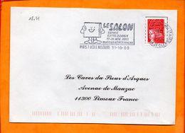 PARIS, Paris 07 Ecole Militaire, Flamme SCOTEM N° 18031, Le Salon, 17-26 Nov. 2000 - Postmark Collection (Covers)