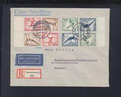 Dt. Reich Luftpost Einschreiben 1936 ZD Kaiserslautern Nach Neupetershain - Deutschland