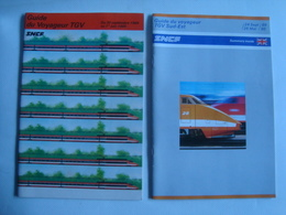 SNCF. GUIDE DU VOYAGEUR TGV 1984-85 + TGV SUD-EST 1989-90 - FRANCE, 1984-85 / 1989-90. - Spoorweg