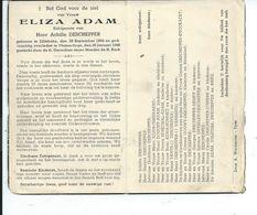 B.P.  ZILLEBEKE  ADAM ELIZA 1892 - 1948 VLAMERTINGE - Religion & Esotericism