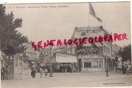 17- ROYAN - BOULEVARD THIERS ET RUE GAMBETTA- CAFE DES BAINS- EDITEUR VICTOR BILLAUD N° 17 - Royan