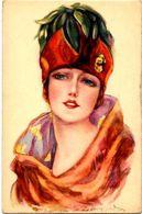 CPA BOMPARD N° 456-1  Femme Woman Girl écrite Illustrateur Italien Italie - Bompard, S.