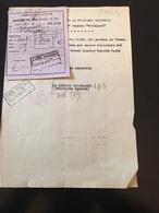 FERROVIA DELLI STATO-BIGLIETTO SPECIALE-28-1-1939-DA VERONA A TORINO-RUOLINO DI MARCIA-MILIZIA VOLONTARIA X LA SICUREZZ - Titres De Transport