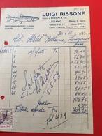 30-4-1953-LUGANO-LUIGI RISSONE-NEGOZIANTE IN PESCI DI OGNI QUALITÀ-CROSTACEI-FATTURA-CENT.50-FATTURE - Schweiz