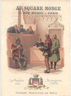 """CHROMOS - """" AU SQUARE MONGE PARIS """" - Illustration """" HISTOIRE MUNICIPALE DE PARIS - Autres"""