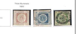 Uruguay PO 1860 Numerals  Scott.15+16+17 Used Imp.See Scans On Scott.Page - Uruguay