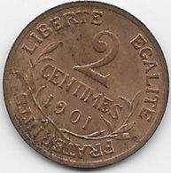 France 2 Centimes 1901 - France