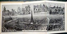 75 PARIS  EXPOSITION 1889 TOUR EIFFEL  SUITE DE 18 VUES PHOTOLITHOGRAPHIEES   COUVERTURE ILLUSTREE - Exhibitions